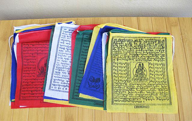 NEPAL Buddha Windpferd Tara 25 Tibetische Gebetsfahnen Baumwolle
