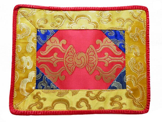 Tibetische Decke Altardecke Brokat Dorje Vajra Nepal rot